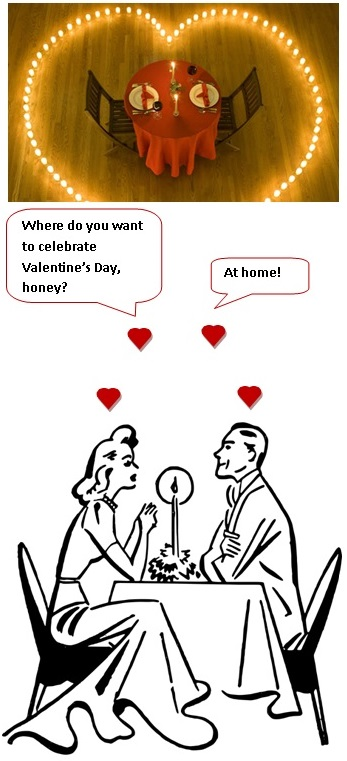 Dinner for two to celebrate Valentine's Day.  What would you plan?