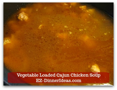Kale Chicken Soup | Vegetable Loaded Cajun Chicken Soup - Add 6 cups Chicken Bone Broth and bring it to boil.