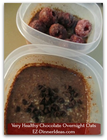 Very Healthy Chocolate Overnight Oats - As good as it looks, be patient.  It needs to be chilled in the fridge overnight