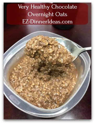 Very Healthy Chocolate Overnight Oats