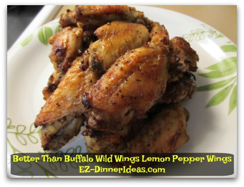 Better Than Buffalo Wild Wings Lemon Pepper Wings - Garnish and enjoy