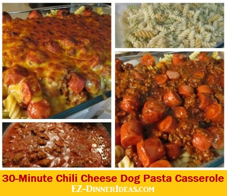 30-Minute Chili Cheese Dog Pasta Casserole is where meat lovers get everything in each side of the world.