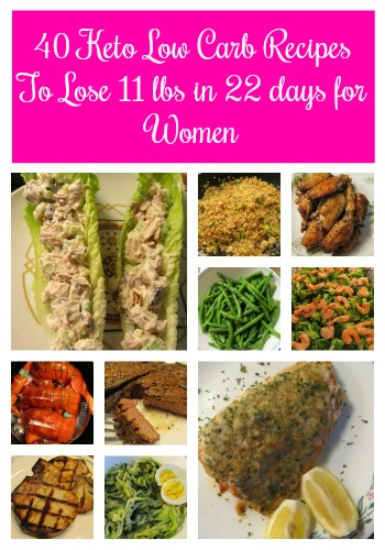 40 Keto Low Carb Recipes To Lose 11 lbs in 22 days for Women