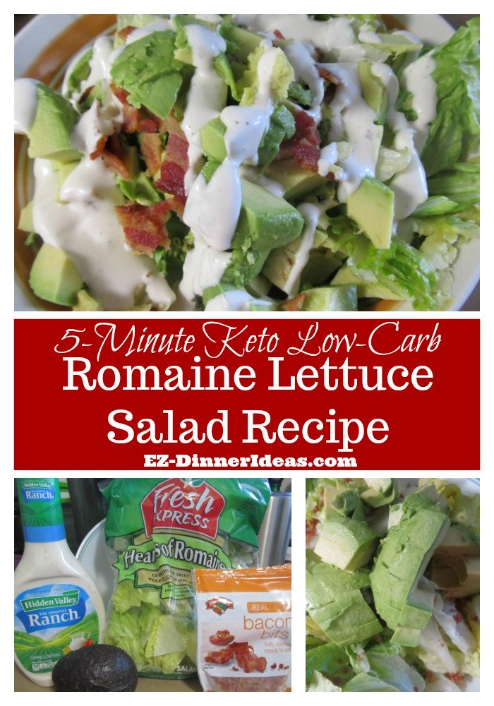5-Minute Keto Low-Carb Romaine Salad