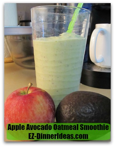 Apple Avocado Oatmeal Smoothie