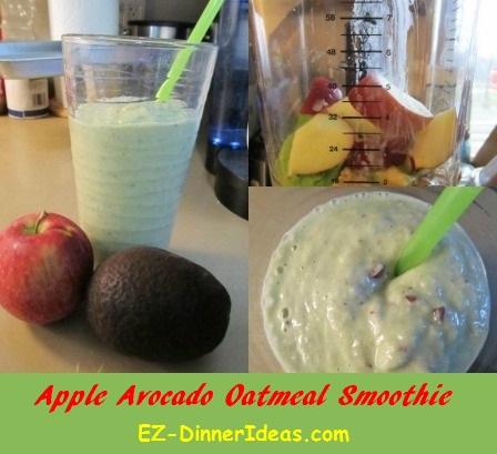 Apple Avocado Oatmeal Smoothie