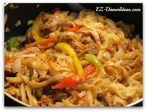 Asian Pepper Onion Noodles (with Pork)