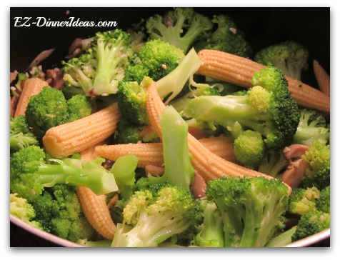 Chinese Stir-Fry Vegetables dish is a twist of my other recipe, simply sautéed broccoli. Using about the same method but adding different and commonly used Chinese ingredients.