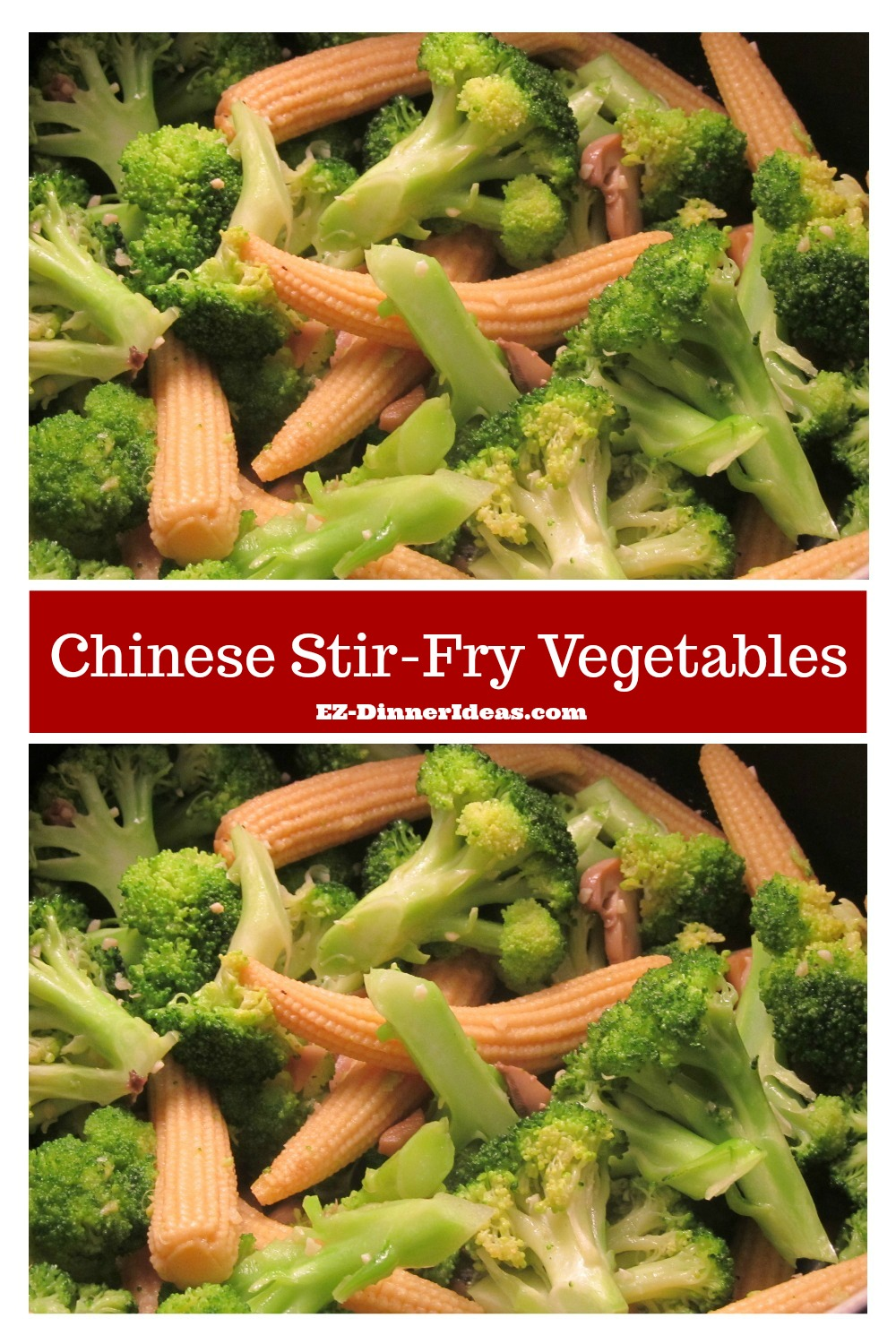 This Chinese stir-fry vegetables dish is delicious and easy.  It can be a side dish or a healthy dinner make you feel awesome.