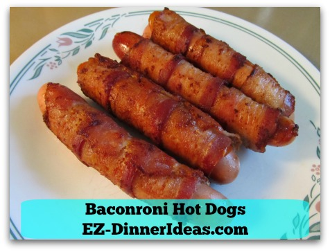 Baconroni Hot Dogs