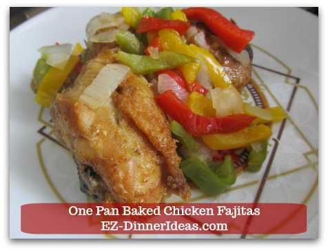 Easy Chicken Fajitas Recipe   One Pan Baked Chicken Fajitas - Skip the tortillas and make it a low-carb meal for your diet.