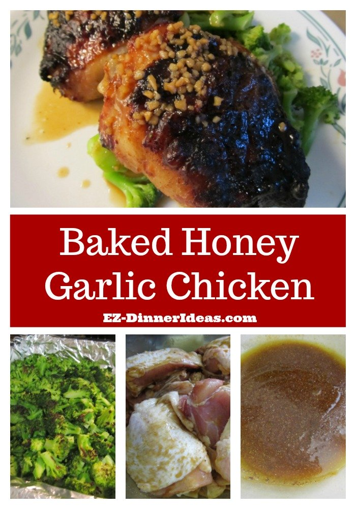 Baked Honey Garlic Chicken - Recipe for baked chicken unbelievably needs very little attention and time from you.  It is a super easy Chinese family dinner.