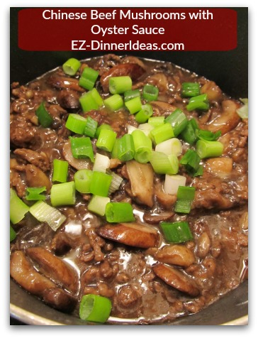Chinese Beef Mushrooms with Oyster Sauce