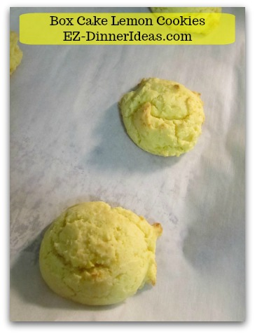 Lemon Cake Mix Cookies are very lemon-y.   You can make it any time.  People love them as gifts.
