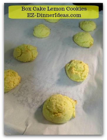 Box Cake Lemon Cookies