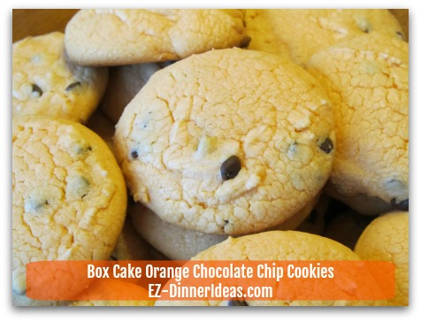 Box Cake Orange Chocolate Chip Cookies - Cool in room temperature and ENJOY!