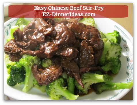 Beef Dinner Recipe   Easy Chinese Beef Stir-Fry - Serve stir-fried beef with broccoli and ENJOY!