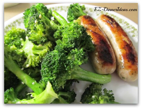 Simply Sauteed Broccoli with Chicken Sausage