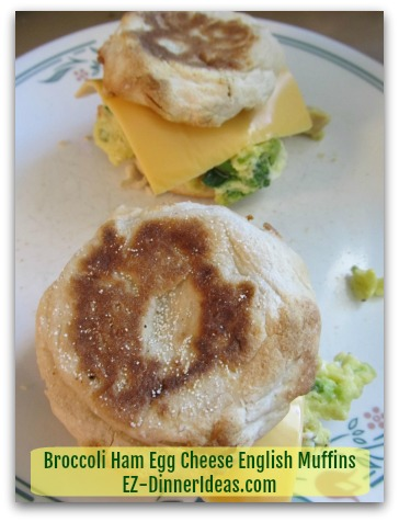 Who could think leftover can make such a delicious sandwich? Broccoli Ham Egg Cheese English Muffins