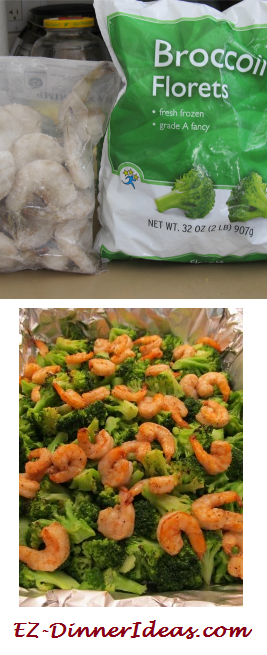 2 ingredients - One-Pan Broccoli and Shrimp