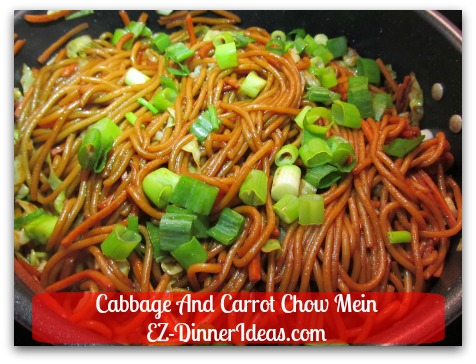 Cabbage and Carrot Chow Mein, in fact, uses spaghetti which gives similar texture of typical Chinese noodles in this traditional Chinese recipe.
