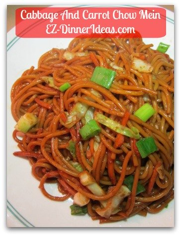 Cabbage And Carrot Chow Mein  Better Than Take-Out Easy Cooking Chinese At Home