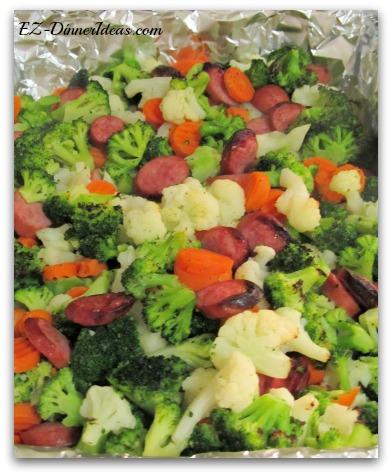 California Blend Vegetables Kielbasa