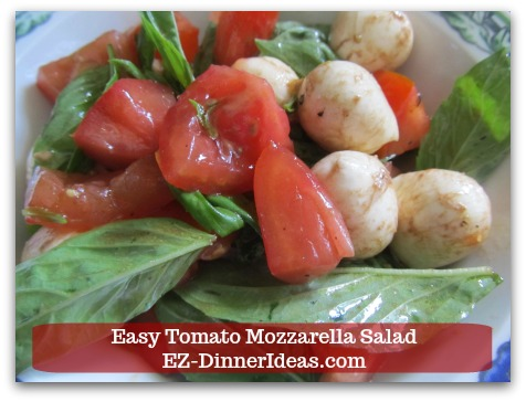 This caprese salad recipe is super easy.  Chop and drop is all you need to do.  Without much hassle, it is a great side dish to serve in a potluck dinner.
