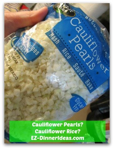 Some call it Cauliflower rice.  Some call them Cauliflower pearls.  How would you call it?