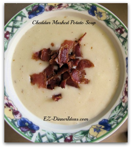 Cheddar Mashed Potato Soup