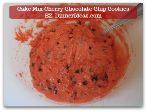 Cookie Recipe Using Cake Mix | Cake Mix Cherry Chocolate Chip Cookies - Pretty color ^_^