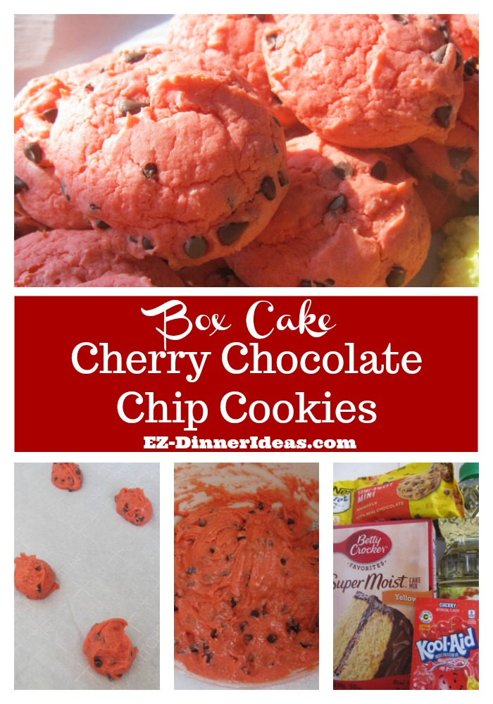 Cookie Recipe Using Cake Mix | Cake Mix Cherry Chocolate Chip Cookies
