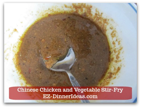 Chicken Stir-Fry Recipe | Chinese Chicken and Vegetable Stir-Fry - Marinade should look like thick paste.