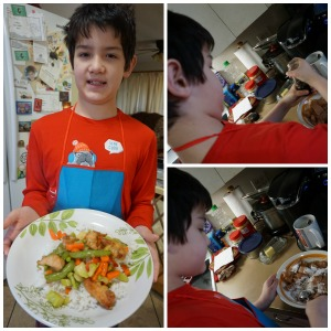 Chicken Stir-Fry Recipe | Chinese Chicken and Vegetable Stir-Fry - My son made this together with me and submitted it as one of his art projects.