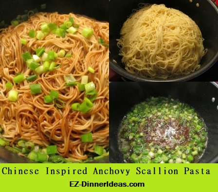 Chinese Inspired Anchovy Scallion Pasta, a little twist from a Chinese family recipe.