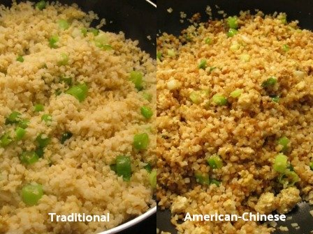 Traditional Cauliflower Fried Rice - Which look do you prefer?  Traditional or American-Chinese?