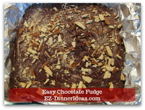 Easy Chocolate Fudge - Add crushed pretzel pieces to give this fudge some savory flavor.