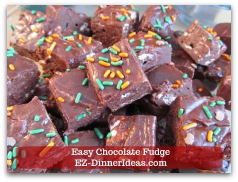 Easy Chocolate Fudge - One versatile recipe makes chocolate fudge so much fun to work with.