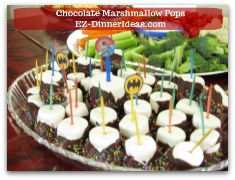 Chocolate Marshmallow Recipe | Chocolate Marshmallow Pops - A few tricks you can tie this recipe to many other party themes and special occasions.