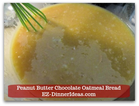 Great Breakfast Idea | Peanut Butter Chocolate Oatmeal Bread - Before adding dry ingredient mixture, the batter appears to be pretty thick already.