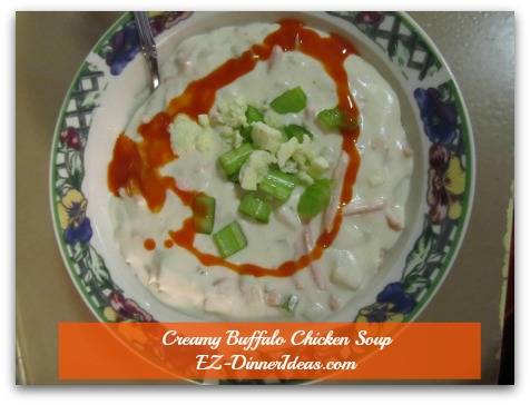 Creamy Buffalo Chicken Soup