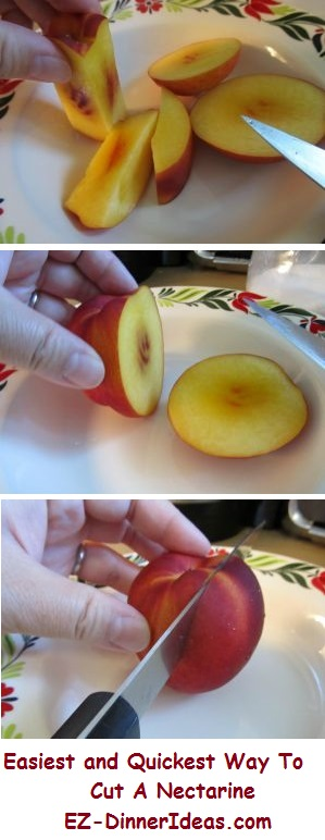 How to cut a nectarine?