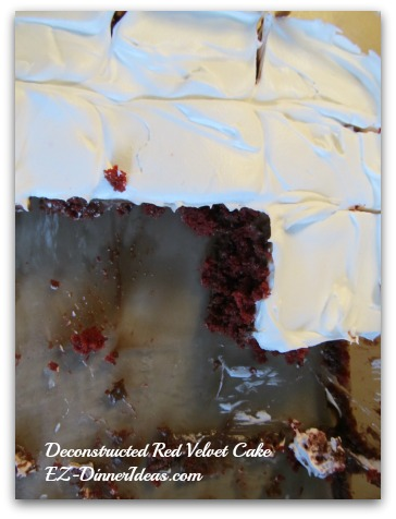 Deconstructed Red Velvet Cake