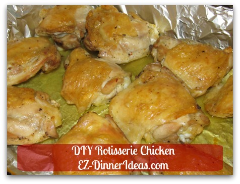 DIY Rotisserie Chicken - Dripping has a lot of flavors in it.  Use it for roasting vegetables.  Great for side dish or pack for lunch.