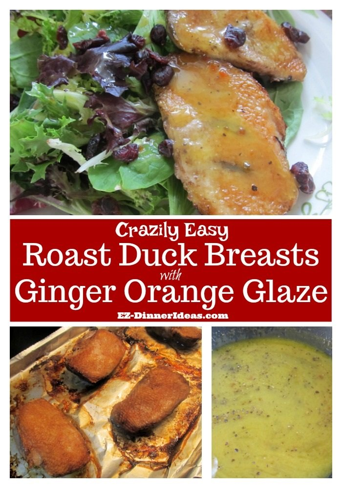 Roast Duck Breast Recipe with Ginger Orange Glaze