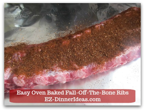 Baby Back Pork Ribs Recipe | Easy Oven Baked Fall-Off-The-Bone Ribs - Rub and cover every spot of the ribs.