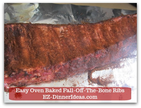 Baby Back Pork Ribs Recipe | Easy Oven Baked Fall-Off-The-Bone Ribs - Make sure to cover both sides where the bones exposed.