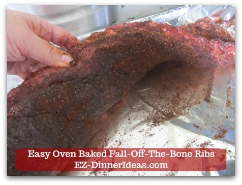 Baby Back Pork Ribs Recipe | Easy Oven Baked Fall Apart Ribs - Use a pair of tongs and a big spatula carefully to turn ribs over and put on glaze and bake again