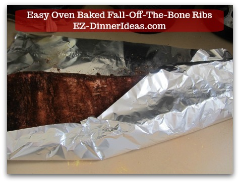 Baby Back Pork Ribs Recipe | Easy Oven Baked Fall-Off-The-Bone Ribs - Bone side up and cover the entire rack with aluminum foil tightly.