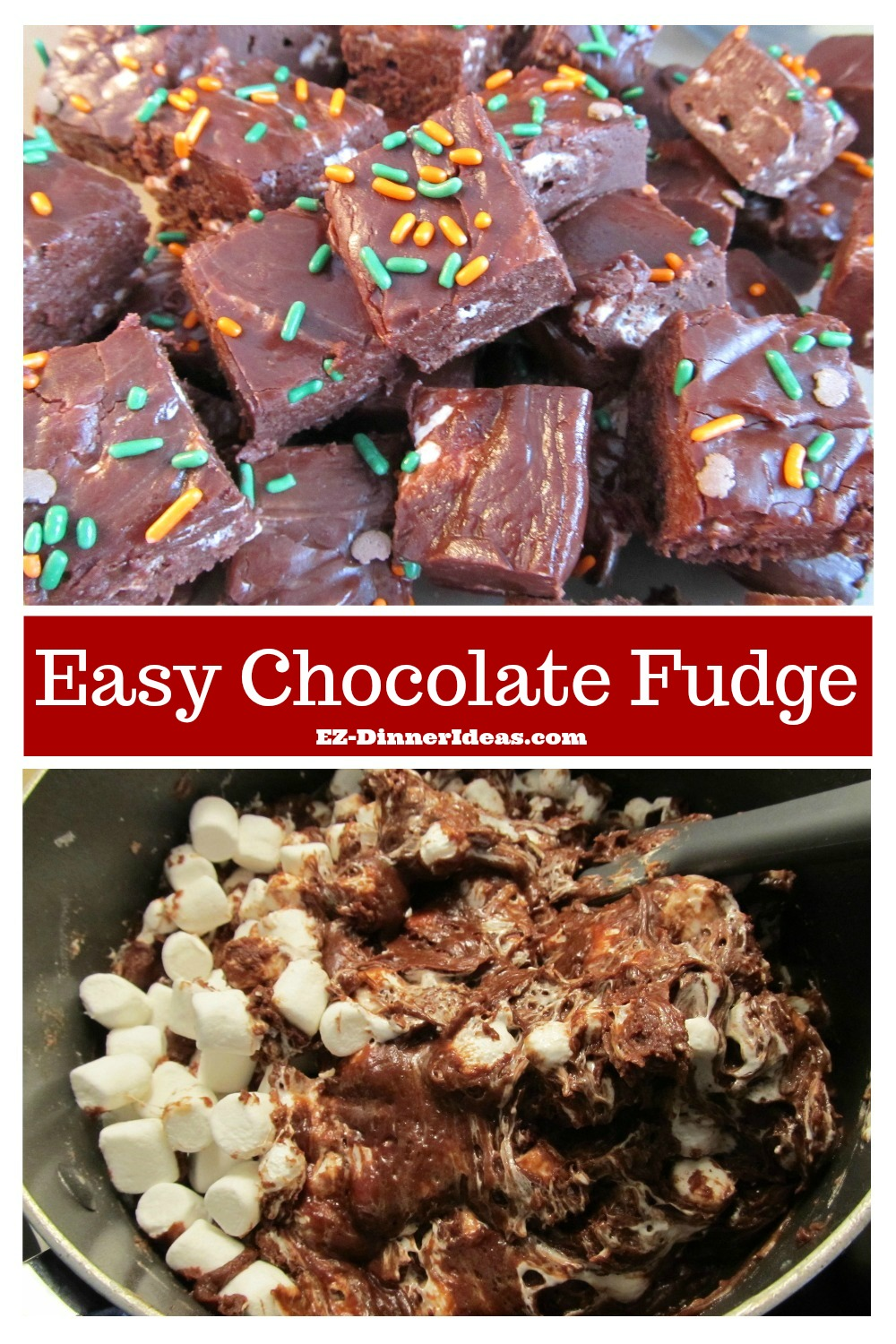 Easy Chocolate Fudge - This recipe is foolproof and no frustration with the little bit of leftover ingredients.  One recipe makes many different flavored chocolate fudge.  The options are unlimited.